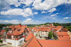 View on the center of Tubingen, Baden-Wurttemberg, Germany Stock Image