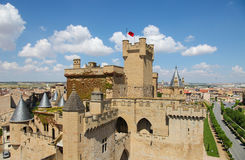 View on the center of Ujue, Navarre, Spain Stock Images