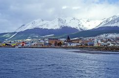 View on the Center of Ushuaia - Tierra del Fuego, Argentina stock photo