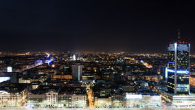 View of the center of Warsaw Stock Photography