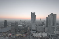 View of the center of Warsaw Royalty Free Stock Images