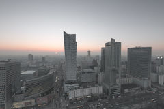 View of the center of Warsaw Royalty Free Stock Image