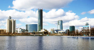 View of the center of Yekaterinburg Stock Photography