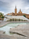 View in the center of Zaragoza Stock Photography