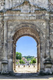 View through the central arch of the Arch of Triumph in Orange Royalty Free Stock Image