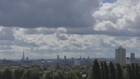 View of the central areas of London. stock video