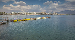 View on the central beach of Eilat Royalty Free Stock Photography