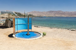 View on the central beach of Eilat, Israel Stock Photos