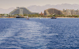 View on the central beach of Eilat, Israel Stock Photography
