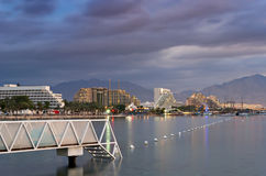 View on the central beach of Eilat ,Israel Royalty Free Stock Photos