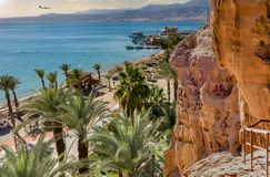 Sunny day in Eilat - famous resort city in Israel Stock Photos