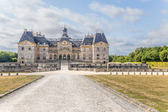 View of the central building of the estate of Vaux-le-Vicomte, France Stock Image