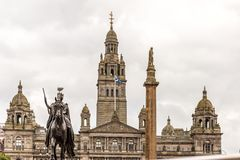 View of Central Glasgow in Scotland. UK Stock Image