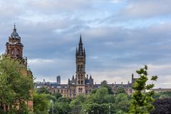 View of Central Glasgow in Scotland. UK Royalty Free Stock Images