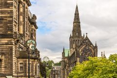 View of Central Glasgow in Scotland Stock Image