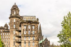 View of Central Glasgow in Scotland. UK Royalty Free Stock Photos