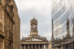 View of Central Glasgow in Scotland. UK Royalty Free Stock Photography
