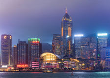 View of central Hong Kong island stock image