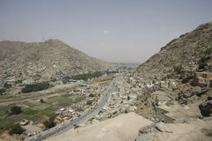 View of central Kabul. View of Kabul, Afghan capital city Stock Photo