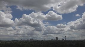 View of central London. Beautiful clouds.
