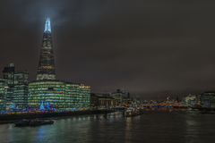 A view of Central London towards The Shard. London, UK - 12th December 2016: A view of the River Thames towards The Shard Stock Photos