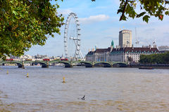 View of the central London.Westminster, London, England. Royalty Free Stock Image