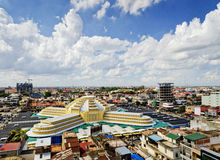 View of central market landmark in phnom penh city cambodia Stock Images