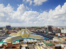View of central market landmark in phnom penh city cambodia Royalty Free Stock Photography