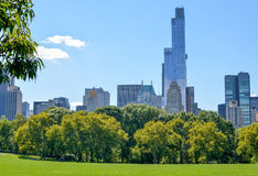 View from the Central Park lawn stock photography