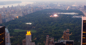 View of Central park with a musical concert in New York City Royalty Free Stock Image
