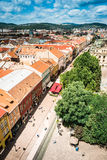 View on central part of Kosice. Scrnic view on roofs and central part of Kosice in Slovakia Royalty Free Stock Images