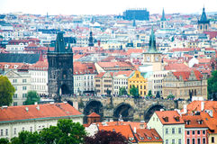 view at central part of prague aerial s historic centre czech republic Royalty Free Stock Images