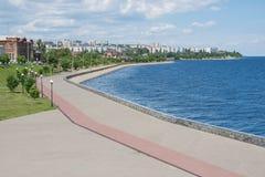 View of central promenade Kamyshin Volgograd region. View of the central promenade Kamyshin Volgograd region royalty free stock images