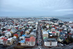 View of the central Reykjavik from Hallgrimskirkja church Royalty Free Stock Photography