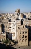 View of central sanaa  city old town skyline in yemen Royalty Free Stock Photo