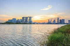 View of central Singapore Royalty Free Stock Photography