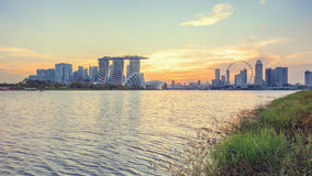 View of central Singapore Royalty Free Stock Images