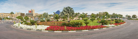 View on the  Central square of Eilat, Israek Stock Photography