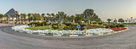 View on the  Central square of Eilat, Israek Royalty Free Stock Photography