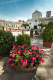 A view of the central square of the old Italian city. Royalty Free Stock Images