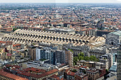 View of central station in Milan, Italy Royalty Free Stock Image