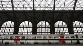Antwerp central train station. A view in the Central Train Station of Antwerp in Belgium Stock Photo