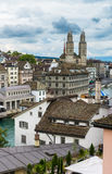 View of central Zurich from the top of the Lindenhof,  Swizterla Royalty Free Stock Photo