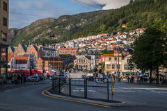 View of the centre of Bergen near Bruggen Stock Photography