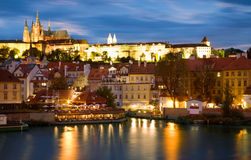View of Centre of Prague. In the evening Royalty Free Stock Images