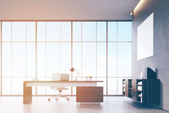 View of CEO office with poster Stock Images