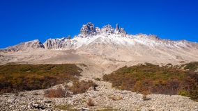 View of Cerro Castillo in Carretera austral in chile - Patagonia royalty free stock photos