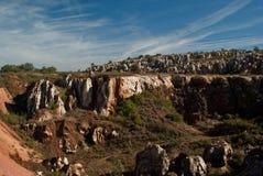 View of Cerro del Hierro. View of the old mine in Cerro del Hierro, Seville Stock Photography