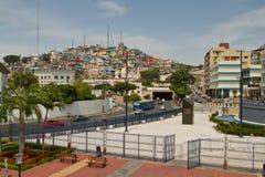 View of Cerro Santa Ana, city landmark in Stock Image
