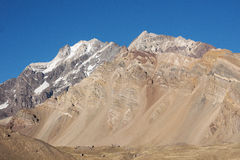 Cerro Tolosa. Aconcagua National Park. View of Cerro Tolosa from Confluencia base-camp. Andes Royalty Free Stock Photography
